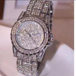 Accessories - Luxury Rhinestone Bling Crystal Analog QuartzWatch